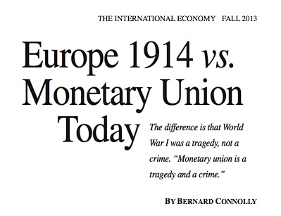 Europe 1914 vs. Monetary Union Today