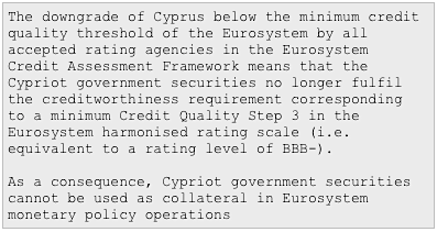 Financial Times 26 júní 2012 - Cypriot government securities cannot be used as collateral