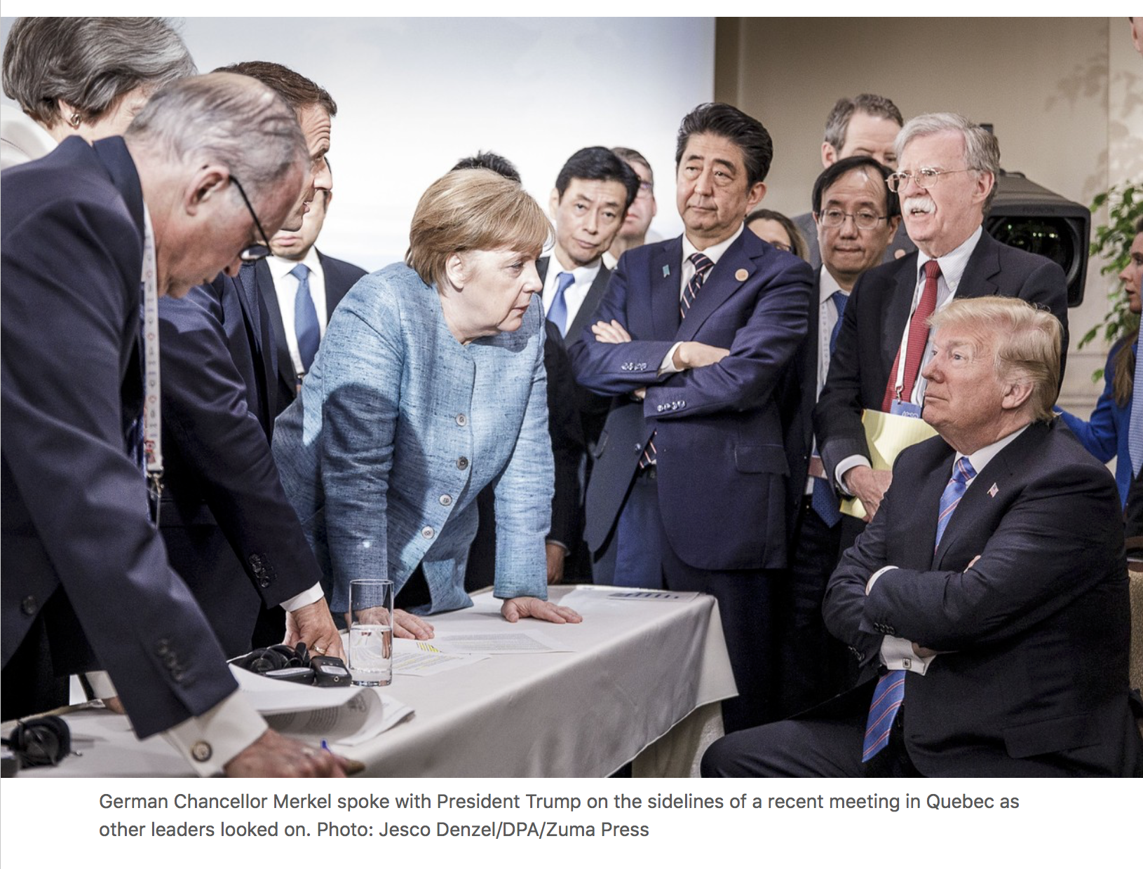 G7 Kanada 2018: Wall Street Journal 8. júlí 2018