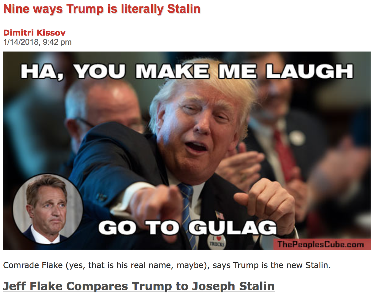 Nine ways Trump is literally Stalin  -The Peoples Cube com