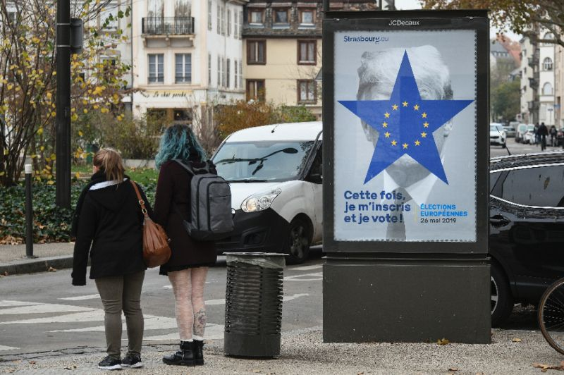 yahoo com news vote trump appears french election posters